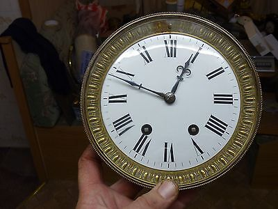 Large Antique French Clock  1/4 Striking Movement & Dial - Repair (1A)