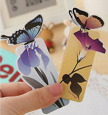 Creative Sweet Butterfly Bookmarks Cartoon Paper Clip Office School 1pc ☆