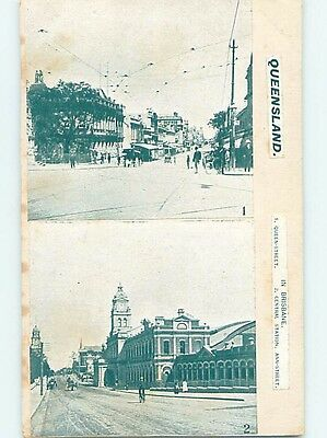 c1910 OLD HANDMADE POSTCARD Brisbane In Queensland Australia hn6430
