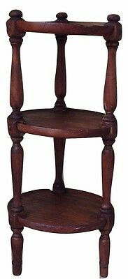 """Ethan Allen Antiqued Distressed Pine ~ 3-Tier Plant Stand ~ Old Tavern Table 28"""""""