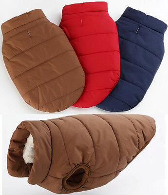 Pet Dog Cat Puppy Winter Warm Clothes Vest Jacket Cotton Coat Costume Apparel