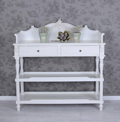vintage regal b cherregal antik weiss k chenregal shabby chic picclick de. Black Bedroom Furniture Sets. Home Design Ideas