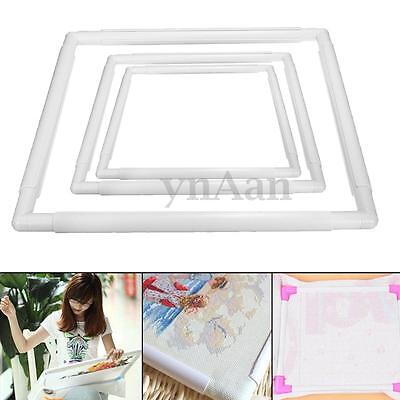 Handhold Square Plastic Embroidery Frame Hoop Cross Stitch Sewing Craft DIY Tool