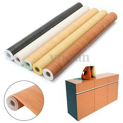 10M Self Adhesive Wood Waterproof Wallpaper Vinyl Sticker Furniture Roll Film