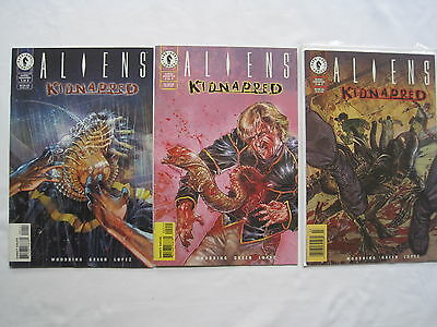 "ALIENS : ""KIDNAPPED"" , COMPLETE 3 ISSUE SERIES. Dark HORSE.1998"