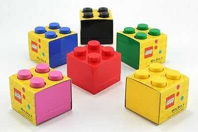Mini Lego Storage 4 Brick Multiple Colours Small Kid's Snacks Sweets Holder