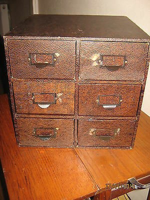 Vintage Winel Card Index Cabinet.6 Drawers. Ex Library. • £50.00