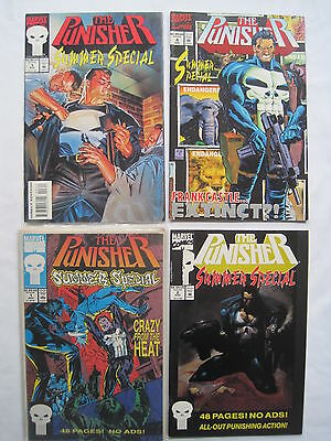 PUNISHER SUMMER SPECIAL s #s 1,2,3 & 4. 1991, 1992, 1993, 1994. MARVEL