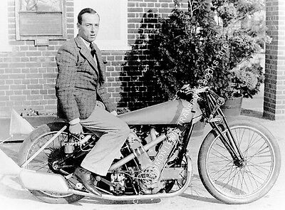 "AJS V Twin 1000cc Supercharged Bike 1930s Charles Mortimer. 10x7"" photo"