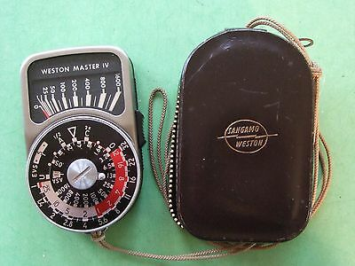 Weston Master 1V Exposure Meter.in Leather case-