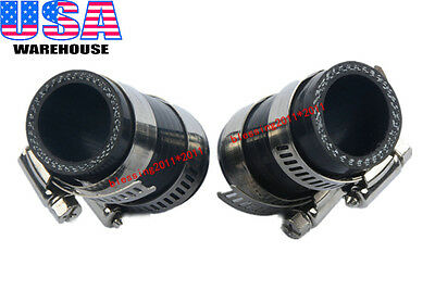 For Yamaha Banshee All Years Rubber Exhaust Pipe Clamp For fmf,dg,etc Black 2PCS