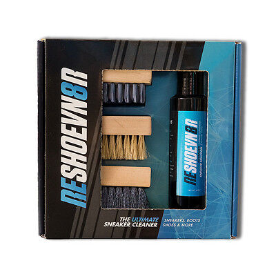 Reshoevn8r 4oz Cleaning Solution & 3 Cleaning Brush Kit for Sneakers / Shoes