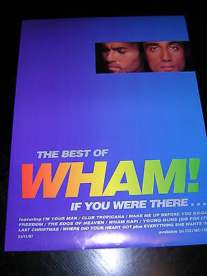 Original Wham! Promotional Poster - The Best Of