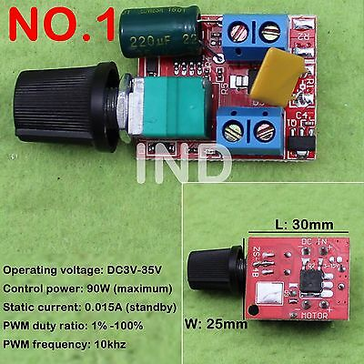 Mini High-Speed PWM LED Dimmer 3V-35V 90w/DC Regulator 4V-40V To 1.25V-36V 8A