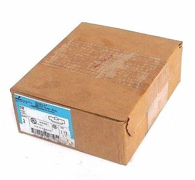 """Box Of 2 New Cooper Crouse-Hinds T47 Conduit Outlet Bodies Form 7, 1-1/4"""""""