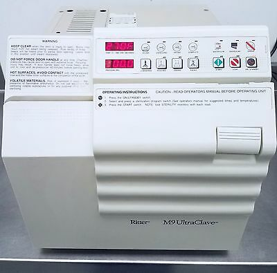 Ritter / Midmark - M9 Ultraclave w/ 3 Trays - Bench Top Autoclave Sterilizer (#2