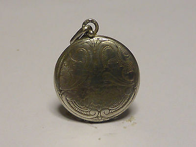 ANTIQUE Sterling  Silver PICTURE LOCKET PENDANT  n2