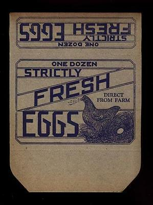 Vintage One Dozen Strictly Fresh Eggs Carton Unused~Lot Of 3