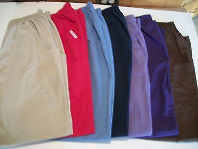 Lots Of 7 Womens Size Xl Scrub Pants Several Colors, Purples, Red, Tan, Blue