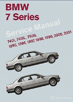 BMW 7 Series E38 NEW Bentley #B701 Printed Service Manual 95 to 01 FREE SHIPPING