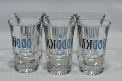 ODDKA VODKA 6 Verres shot shooter NEUF