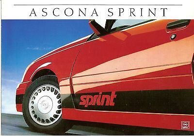 OPEL ASCONA SPRINT CATALOGUE 2 VOLETS 1987 format A4 ALLEMAGNE