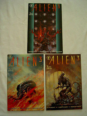 ALIEN 3 ( THE MOVIE ) : COMPLETE 3 ISSUE MINI SERIES by GRANT,TAYLOR,MAGYAR.1992