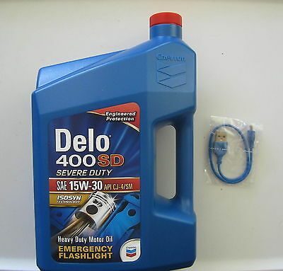 Chevron Delo Oil Container Shaped Emergency Flashlight, Works
