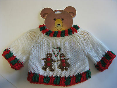 "NWT Teddy Bear Sweater Holiday Theme by NICOLE for 12"" to 16"" Stuffed Plush SALE"