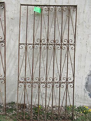 Antique Victorian Iron Gate Window Garden Fence Architectural Salvage Door #324