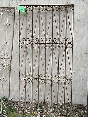 Antique Victorian Iron Gate Window Garden Fence Architectural Salvage Door #325