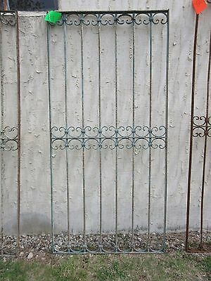 Antique Victorian Iron Gate Window Garden Fence Architectural Salvage Door #319