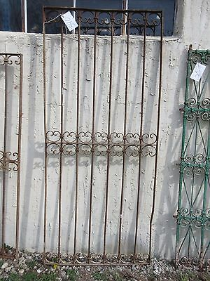Antique Victorian Iron Gate Window Garden Fence Architectural Salvage Door #340