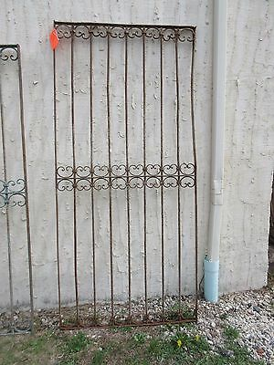 Antique Victorian Iron Gate Window Garden Fence Architectural Salvage Door #318