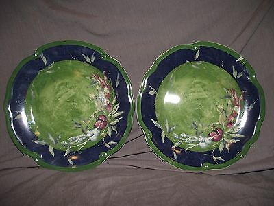 Set of 2 Tracy Porter Stonehouse Farm Collection Dinner Plates