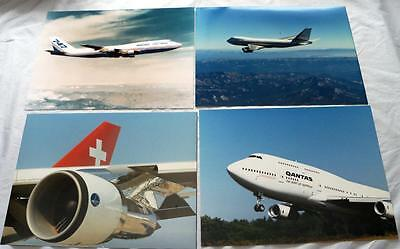 10 Boeing 747 Airline Plane  Photos Mixed Lot #348