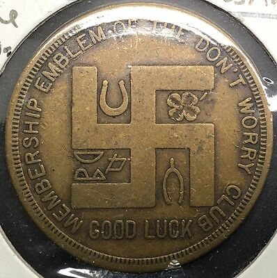 Good Luck Token Swastika Los Angeles California Kline Clothing Don't Worry Club