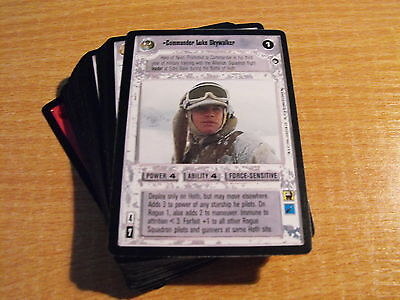 Star Wars Ccg Hoth Black Border, Complete Set Of 54 Rares