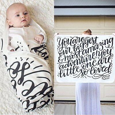 Baby Swaddling Blanket Soft Muslin Newborn Infant 100% Cotton Swaddle Wrap Towel