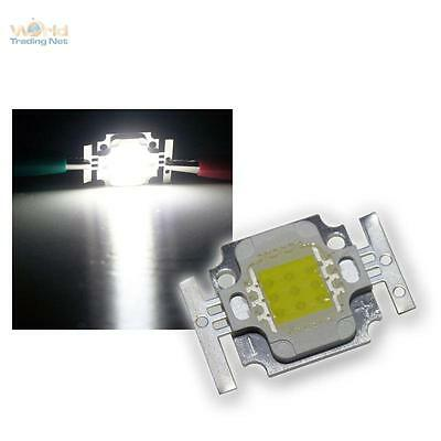 "10 Stk Heavy-duty LED Chips 10W cold white HIGHPOWER ""Square"" 10 Watt coldwhite"