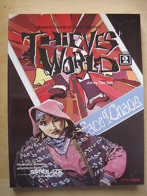 THIEVES WORLD Books 2, 4. ASPRIN & ABBEY.TIM SALE ART.OUTSIZE GRAPHIC COLLECTION