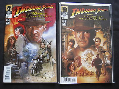 INDIANA JONES, KINGDOM of the CRYSTAL SKULL : COMPLETE 2 ISSUE SERIES. DH.2008