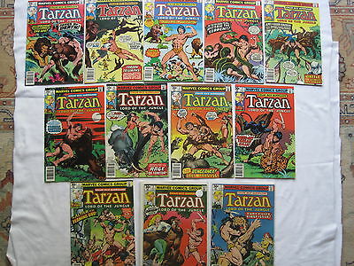 TARZAN, Lord of the JUNGLE : COMPLETE RUN of #s 1-12. ALL FN - NM. MARVEL.1976