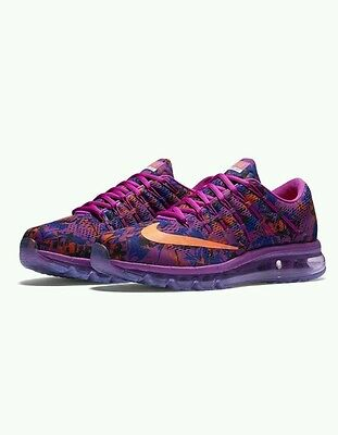 Nike Air Max 2016 Low Top Women's Running Sports Casual Purple Trainers UK5.5