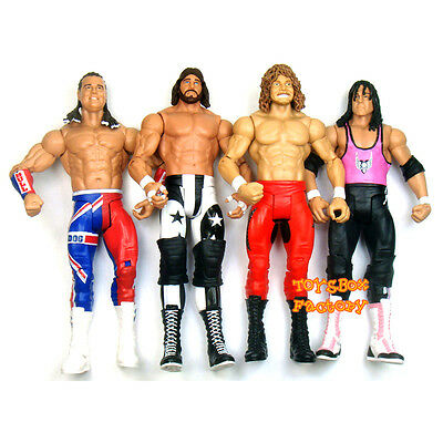 WWE British Bulldog Macho Man Randy Savage Brian Pillman Bret Hart Toys Figures