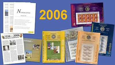 All 5 Numisblätter Vintage 2006: Numisblatt 1/06 - 4/06 + Specification Sheets