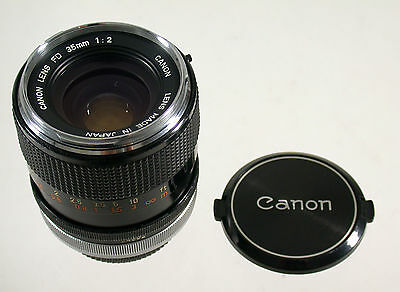 CANON FD 2/35 35 35mm F2 2 chrome front adaptable A7 konkav concave rare