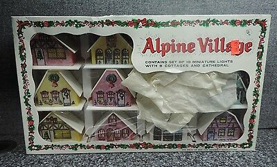 Regency Industries Alpine Village Christmas Cottages / Cathedral Boxed Unused