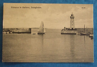 Postcard POSTED c.1920 ENTRANCE TO HARBOUR DONAGHADEE Co.DOWN NORTHERN IRELAND