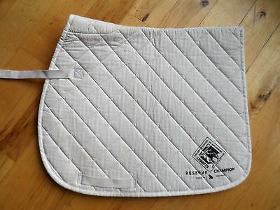 Union Hill English Saddle Pad AP Dressage Quilted White 21 x 40 (EP67)